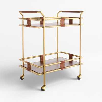 Frye 2-Tier Bar Cart ™ - Crate and Barrel