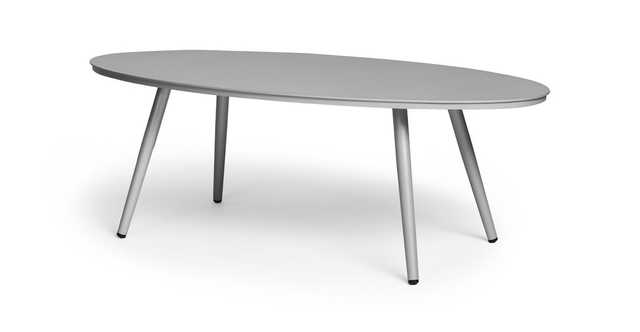 Halden Light Gray Oval Coffee Table - Article