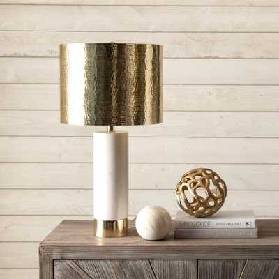 "Edina 23"" Marble & Iron Table Lamp - Loom 23"