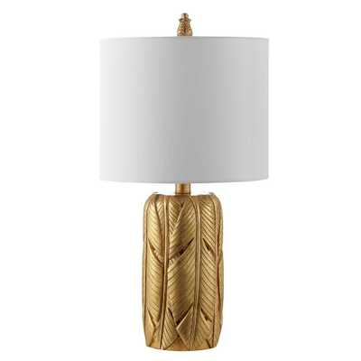 Safavieh Wilsa 22.5 in. Gold Table Lamp - Home Depot