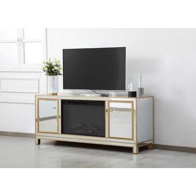 """TV Stand for TVs up to 55"""" with Electric Fireplace Included - Wayfair"""