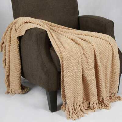 Nader Tweed Knitted-Design Throw - AllModern