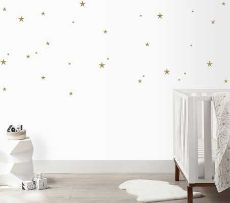 Twinkle Stars Wall Decal, Gold - Pottery Barn Kids