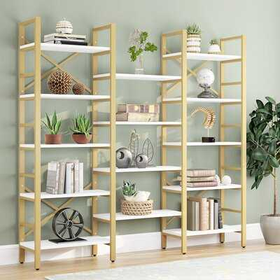 "Helfrich 69.29"" H x 70.86"" W Library Bookcase - Wayfair"