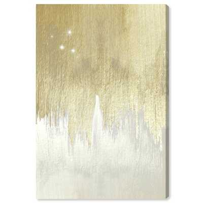 'Golden White Starry Night' - Wrapped Canvas Painting Print - Wayfair