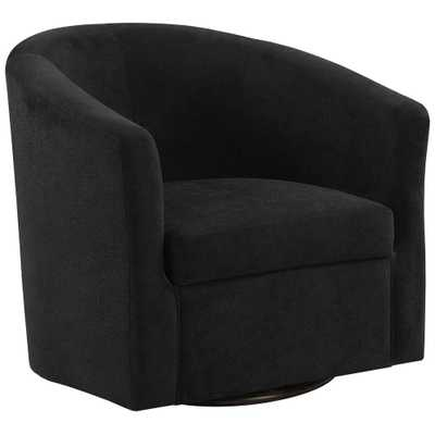 MONARCH SPECIALTIES Black Abstract Velvet Accent Chair - Home Depot