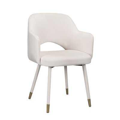 Applewood Accent Chair, White Velvet & Gold - Wayfair