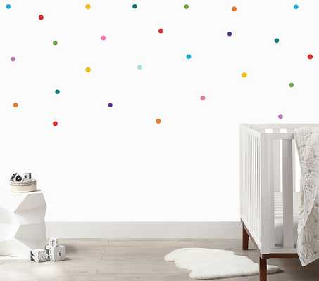 Mini Rainbow Confetti Dots Wall Decal - Pottery Barn Kids