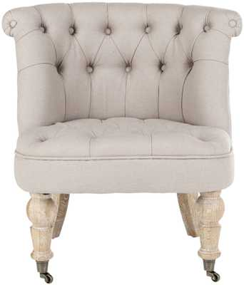 Baby Tufted Chair - Taupe/White Wash - Arlo Home - Arlo Home