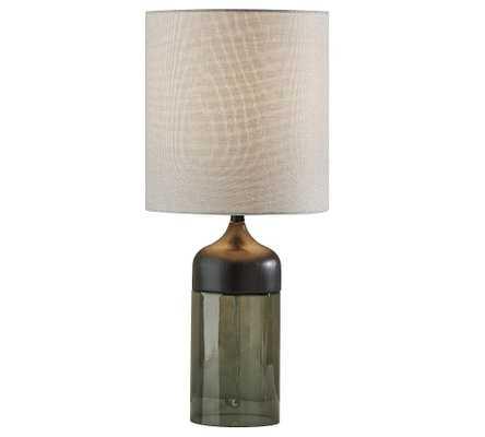 "Stephe Glass Table Lamp, Large 22.75"", Black - Pottery Barn"