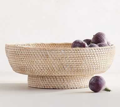 Tava Woven Decorative Bowl, Ivory, Medium - Pottery Barn