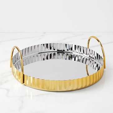 Corrugated Barware, Tray , Brass - West Elm