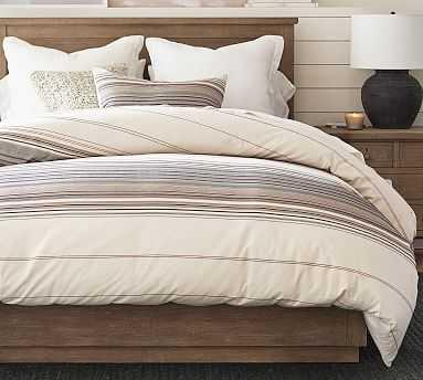 Trenton Stripe Organic Duvet Cover, Full/Queen, Multi - Pottery Barn