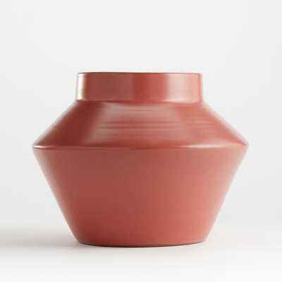 Izma Angled Dusty Rose Vase - Crate and Barrel