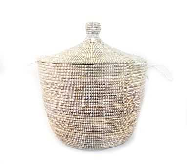 Tilda Woven Basket, White - Wide - Pottery Barn