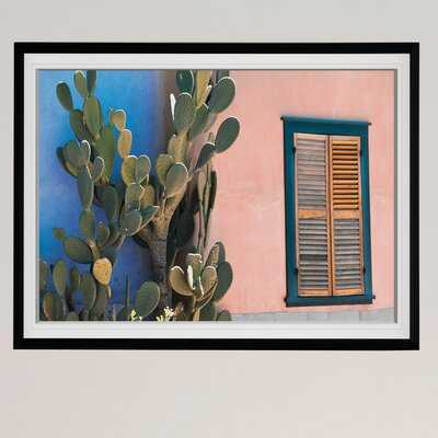 Cactus Profile - Picture Frame Photograph Print on Canvas - AllModern