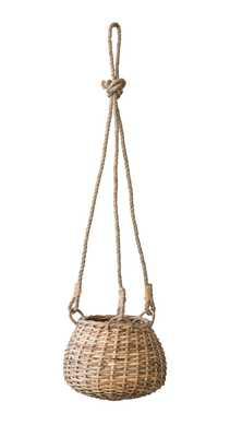Handwoven Rattan Hanging Basket - Moss & Wilder