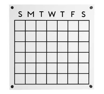 Acrylic/Matte Black Board Calendar - Pottery Barn