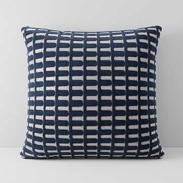 """Cut Velvet Archways Pillow Cover, 18""""x18"""", Regal Blue - West Elm"""