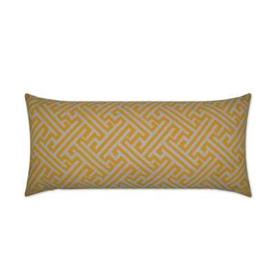 D.V. Kap Amazed Indoor/Outdoor Lumbar Pillow Color: Yellow - Perigold
