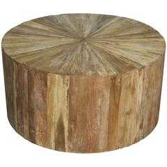 Round Teak Wood Coffee Table - High Fashion Home