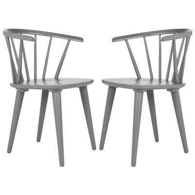 Spindle Solid Wood Windsor Back Arm Chair - Wayfair