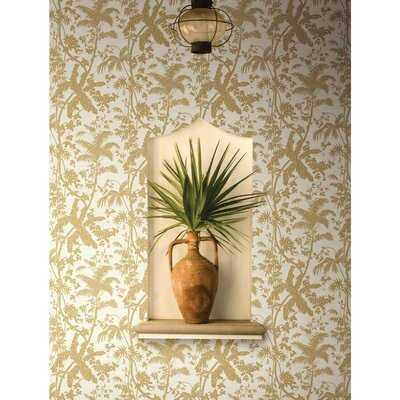 "Reinaldo Palm Shadow 27' x 27"" Wallpaper Roll - Birch Lane"