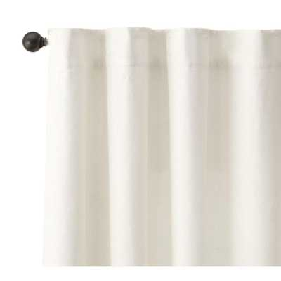 A1 Home Collections Linen Drapery White 100% Linen Drapery Light Filtering Soft Texture Curtain - 50 in. W x 96 in. L (2 Pair) - Home Depot