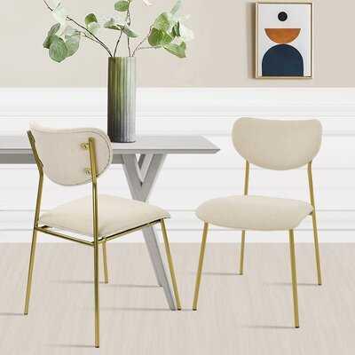 Dickert Upholstered Side Chair- set of 2 - Wayfair