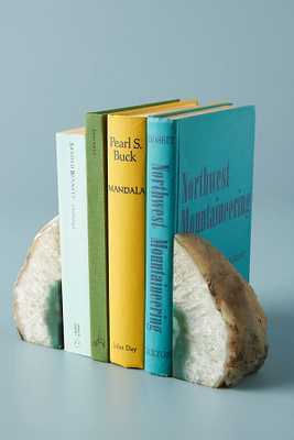 Agate Crystal Bookends By Anthropologie in Green - Anthropologie