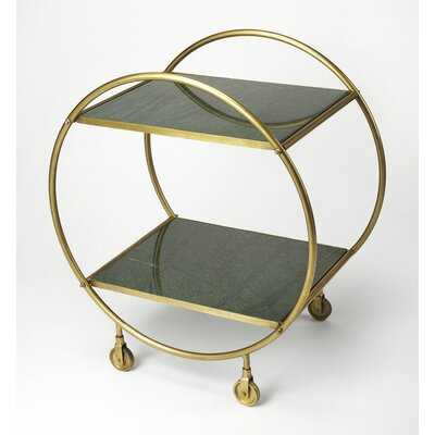 Nicole Marble and Metal Bar Cart (back in stock 2/1/21) - AllModern