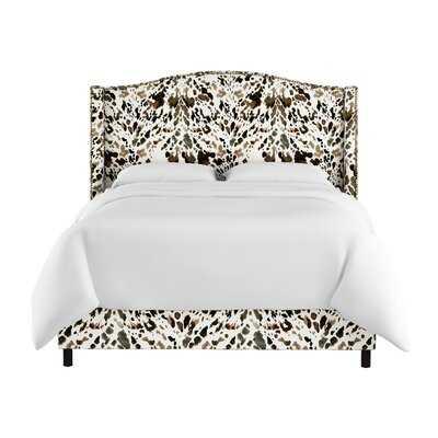 Elisamarie Wingback Linen Upholstered Standard Bed - Wayfair