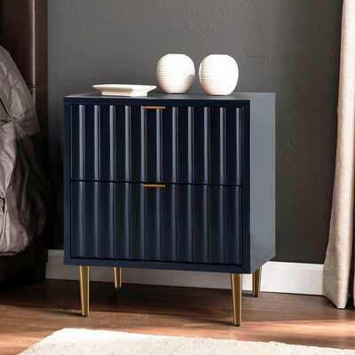 Silbert 2 - Drawer Nightstand in Blue - Wayfair