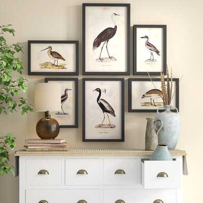 'Waterfowl Gallery' 6 Piece Picture Frame Painting Set - Birch Lane