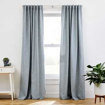 "Dash Jacquard Curtain, Stormy Blue, 48""x96"" - West Elm"