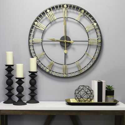 "Oversized Berkeley 28"" Wall Clock - Wayfair"