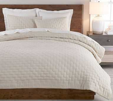 Bliss Cotton Linen Blend Quilt, King/Cal King, Flax - Pottery Barn