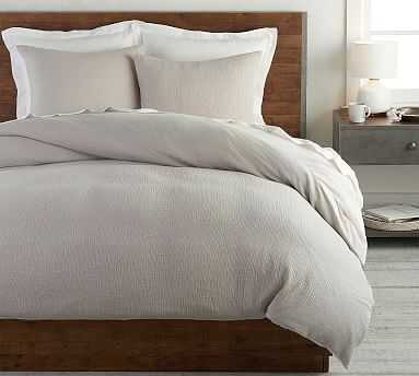 Soft Cotton Duvet Cover, Full/Queen, Gray - Pottery Barn