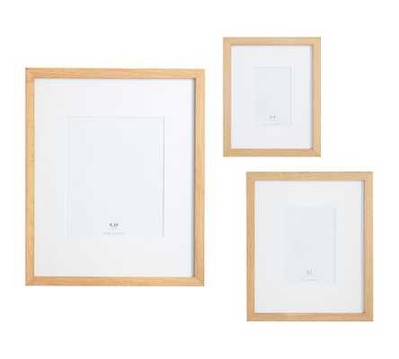 Wood Gallery Single Opening Frame - Set of 3 (includes 4x6, 5x7, 8x10) - Natural - Pottery Barn