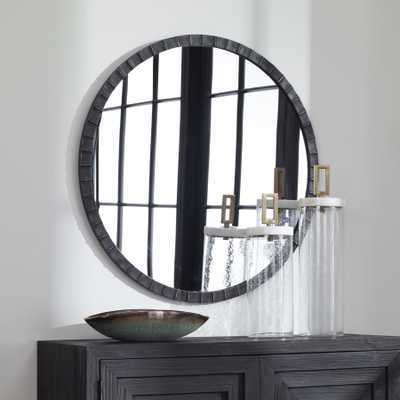 Dandridge Round Industrial Mirror - Hudsonhill Foundry