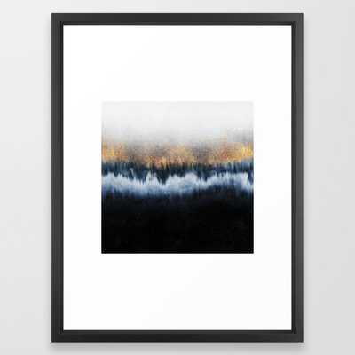 Golden Horizon Framed Art Print by Elisabeth Fredriksson - Vector Black - MEDIUM (Gallery)-20x26 - Society6