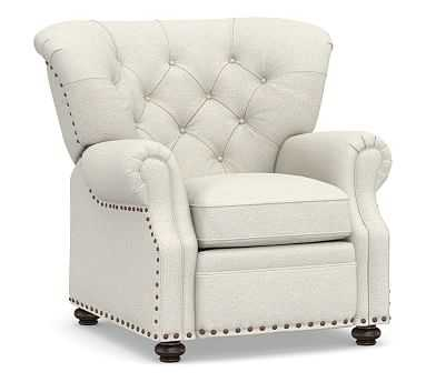 Lansing Upholstered Recliner, Polyester Wrapped Cushions, Performance Boucle Oatmeal - Pottery Barn