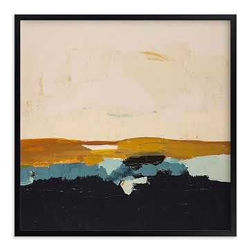 "Yellow Seascape, Full Bleed 44""x44"", Black Wood Frame - West Elm"