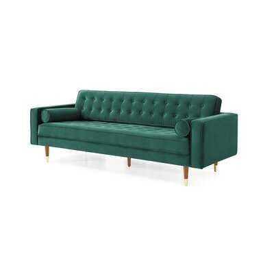 "Delp Velvet 85"" Square Arms Sofa - Wayfair"
