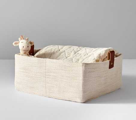 Linen and Leather Storage, Large - Pottery Barn Kids