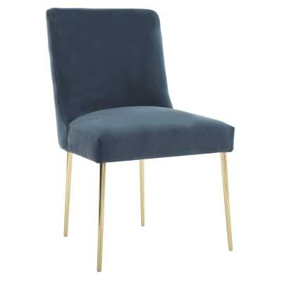 Safavieh Couture Nolita Upholstered Dining Chair Upholstery Color: Aegean Blue - Perigold