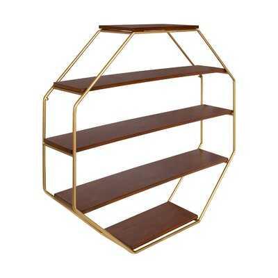 Kennesaw 5 Piece Hexagon Solid Wood Floating Shelf - Wayfair