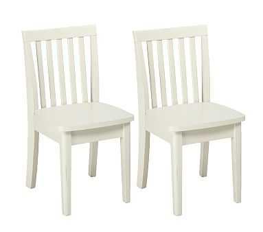 Carolina Play Chair Set of 2, Simply White - Pottery Barn Kids