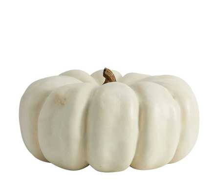 "Faux Pumpkins, Ivory, Cinderella, 11.5"" diameter - Pottery Barn"