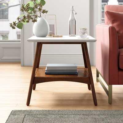 Burnes End Table with storage - Wayfair